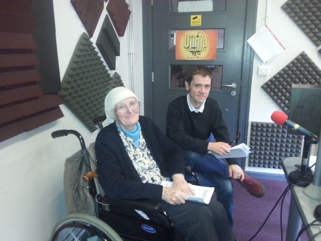 Mike and Suaad sat in the Ujima radio studio