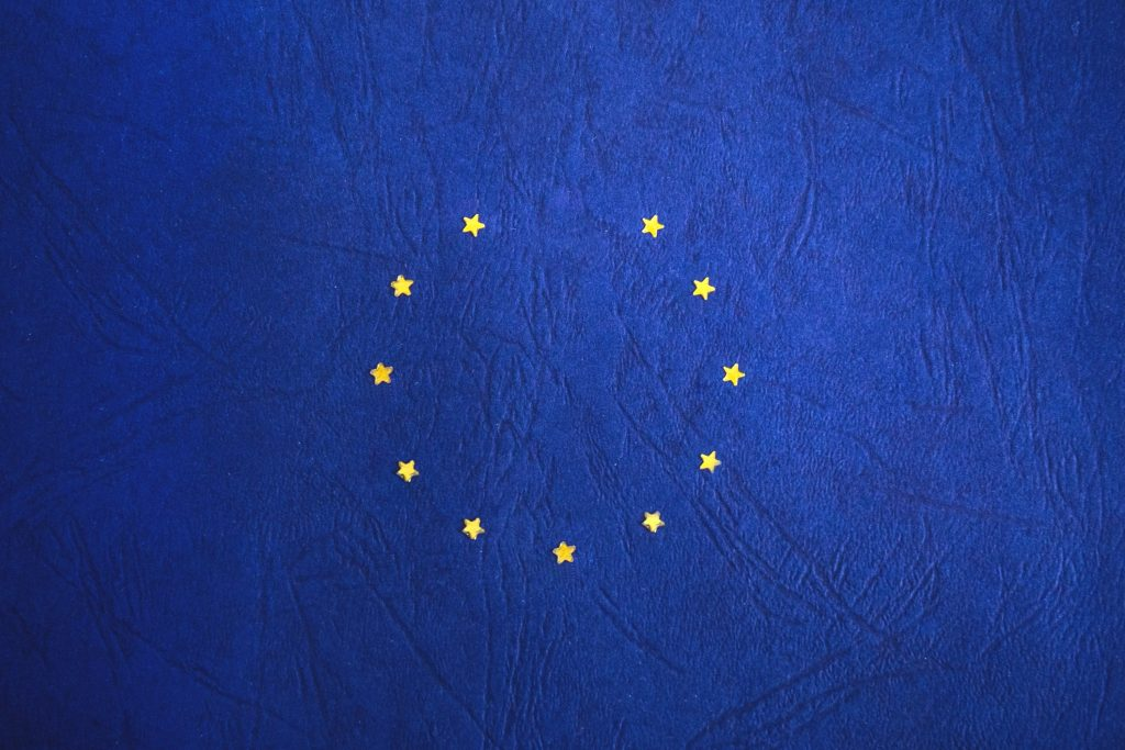 EU flag with star missing