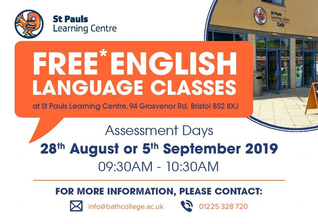 FREE English Language Courses at St Paul's Learning Centre