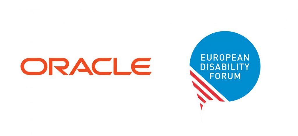 Oracle and European Disability Forum Logos.