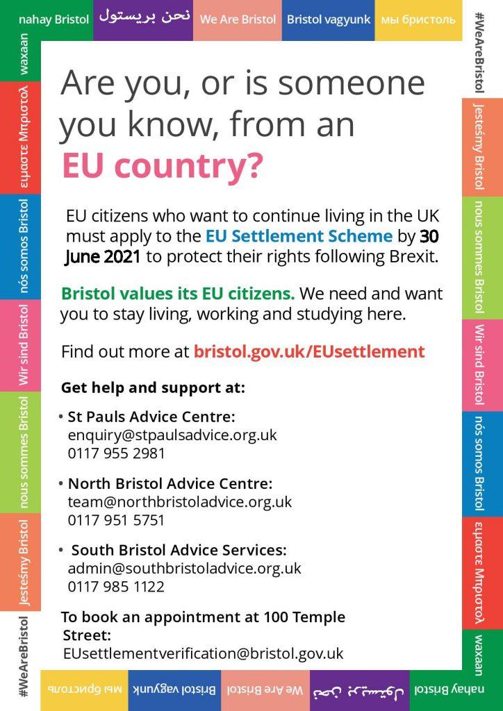 EU Settlement Scheme flyer