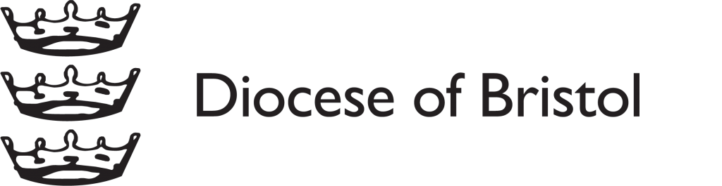 Diocese of Bristol logo - three crowns in a horizontal line and text.