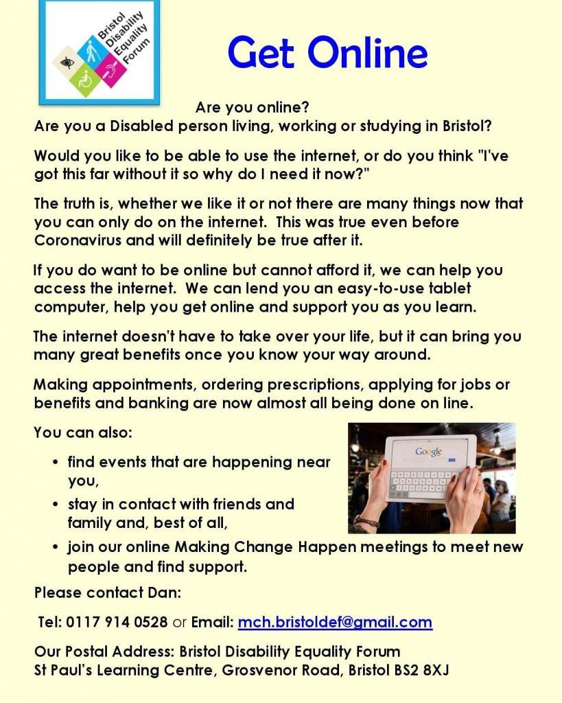 Get Online Project Flyer.