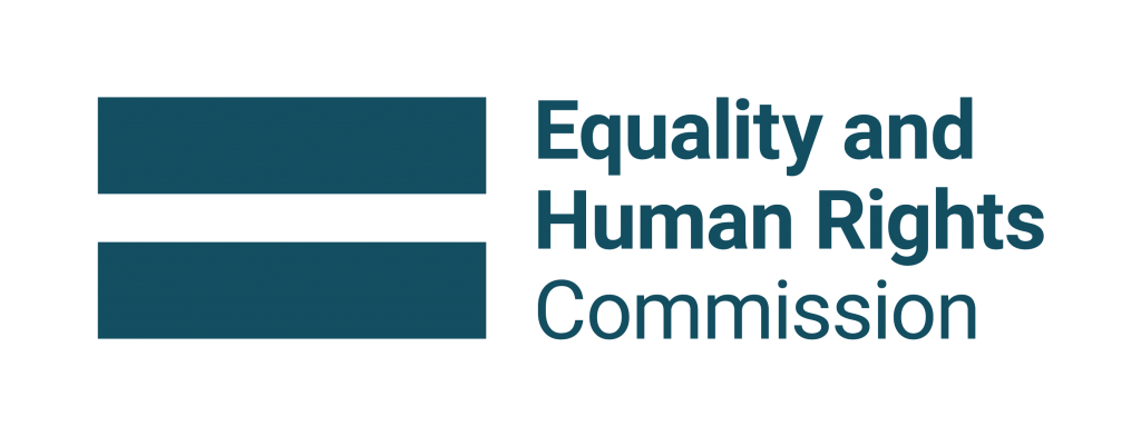 Equality and Human Rights Commission logo. Equals symbol to left of text which reads 'Equality and Human Rights Commission'.
