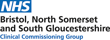 Logo for NHS Bristo, North Somerset and South Gloucestershire.